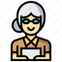 avatar, human, occupation, profession, secretary, woman icon