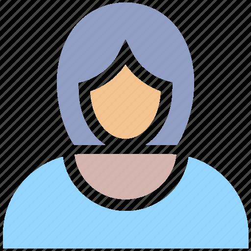 account, avatar, business, female, girl, person, profile, user, woman icon