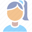 avatar, cute, girl, people, person, user, women icon