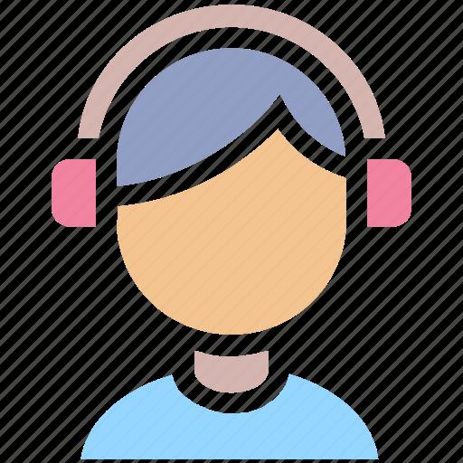 audio, avatar, boy, disk jockey, faceless avatar, headphones, instrument, male, man, music, music listening, songs icon