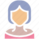 avatar, blonde, girl, lady, office woman, teacher, user, woman icon
