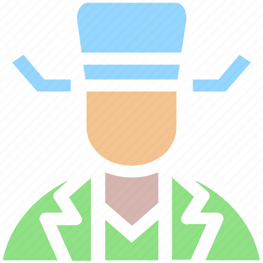 avatar, cowboy, hat, human, man, people, secretive, spy icon