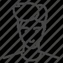 avatar, character, haircut, man, profile, user