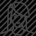 avatar, character, haircut, long hair, man, profile, user