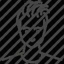 avatar, character, hairstyles, man, profile, undercut, user icon