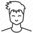asian, avatar, character, haircut, man, profile, user icon