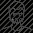 avatar, character, man, profile, skinhead, user