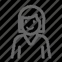 avatar, female, short hair, woman icon