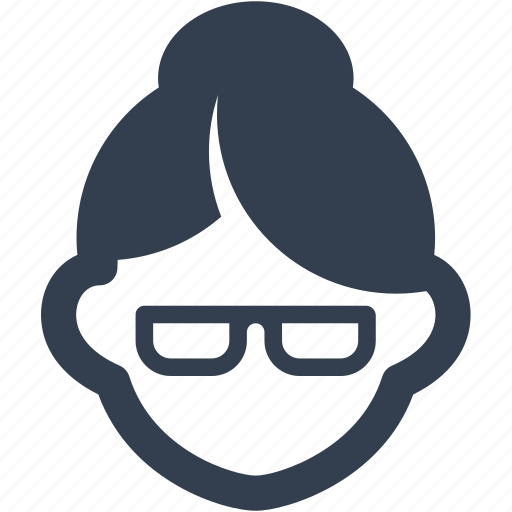 avatar, blind, business, character, female, glasses, grandma, human, lady, old, person, profile, teacher, user, users, woman icon