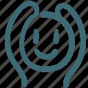avatar, doodle, human, love, raise arms icon
