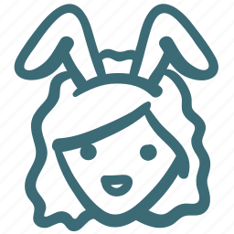 avatar, bunny, girl, rabbit, service, waiter icon