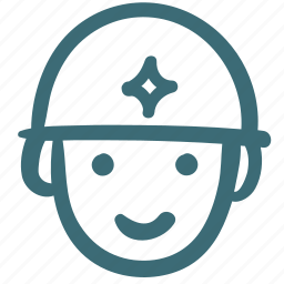 avatar, doodle, hat, man, soldier icon