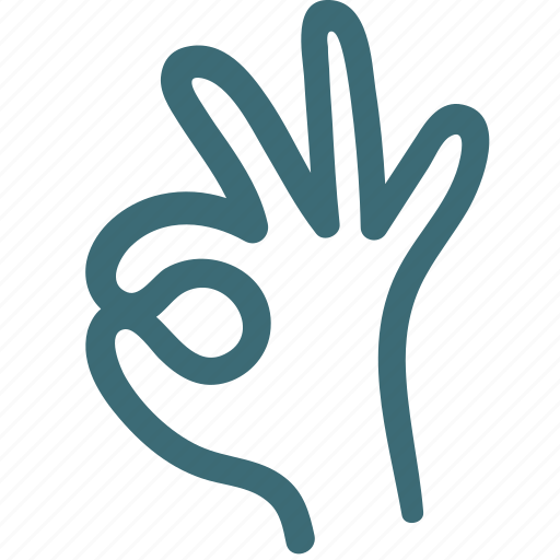 doodle, fingers, good, hand, ok, ok hand icon