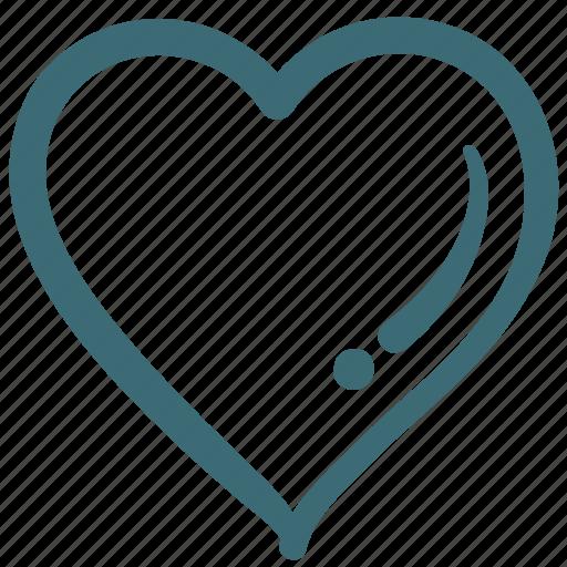 Doodle, favorite, like, love, heart icon