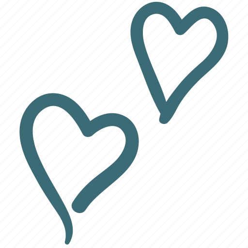 blow, doodle, favorite, heart, like, love icon
