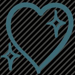 doodle, favorite, heart, like, love icon