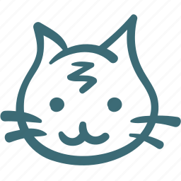 animal, avatar, cat, doodle icon