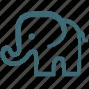 animal, doodle, elephant