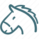 animal, avatar, doodle, horse