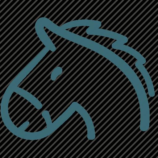 animal, avatar, doodle, horse icon