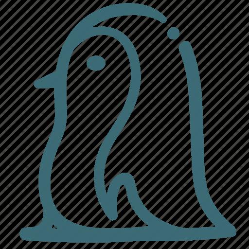 animal, doodle, penguin, sea icon
