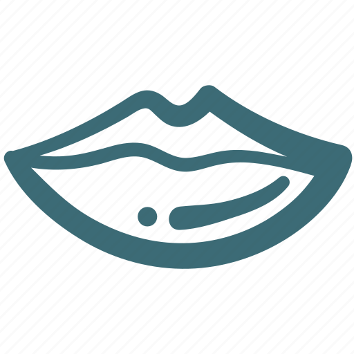doodle, lips, mouth icon