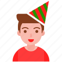 birthday, celebration, christmas, fancy, xmas icon