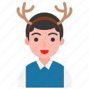 christmas, fancy, horn, reindeer, winter, xmas icon