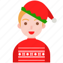 christmas, elf, santa, sweater, ugly, winter icon