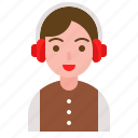 boy, celebration, christmas, ear muff, party, winter icon