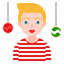 ball, christmas, holiday, party, xmas icon