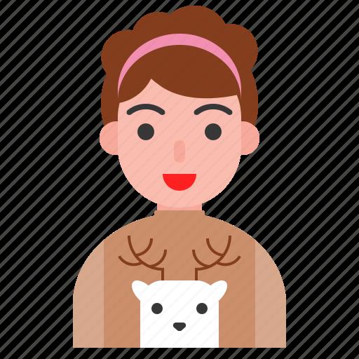 christmas, cute, reindeer, shirt, winter icon