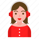 avatar, christmas, ear muff, winter, xmas icon