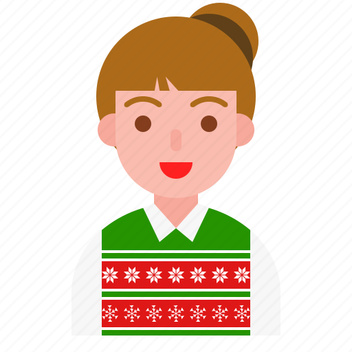 avatar, celebration, christmas, party, snowflake, winter icon