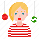 ball, celebration, christmas, decoration, party icon
