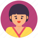 baby girl, cute baby, female avatar, little girl, schoolgirl icon