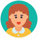 female, girl avatar, lady, schoolgirl, teenager