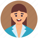 accountant, administrator, employee, female staff, office girl