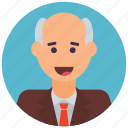 old man, grandfather, senior citizen, old human, old age, old person icon