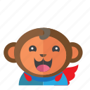 ape, avatar, costume, kid, monkey, smile, style icon
