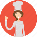 avatar, career, character, chef, face, female, profession icon
