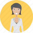 avatar, career, character, employer, face, female, profession icon