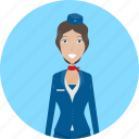 attendant, avatar, career, character, female, flight, profession icon