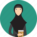 avatar, career, character, female, lecturer, muslimah, profession icon
