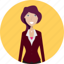avatar, career, character, face, female, profession, secretary icon