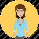 avatar, career, character, face, female, profession, teacher icon