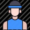 avatar, man, run, running, sport