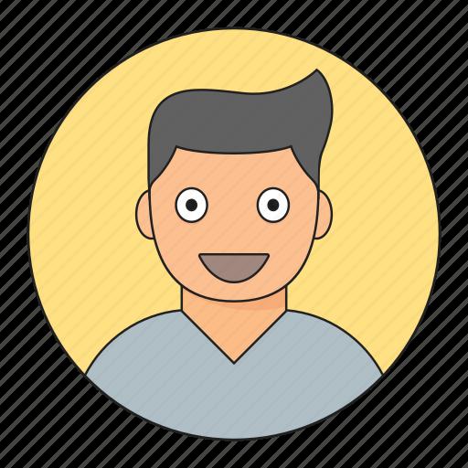 avatar, boy, emoticon, smile, young icon