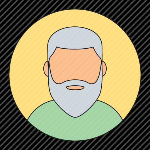 avatar, beard man, emoticon, man, old man icon