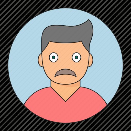 avatar, boy, emoticon, sad, young icon